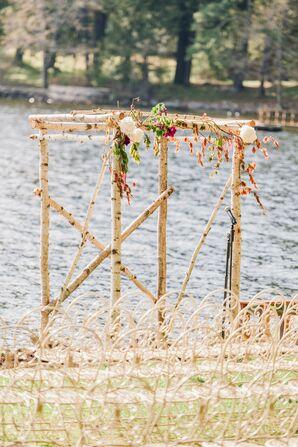 Rustic Birch Ceremony Chuppah