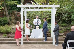 Couple Getting Married at Outdoor Ceremony