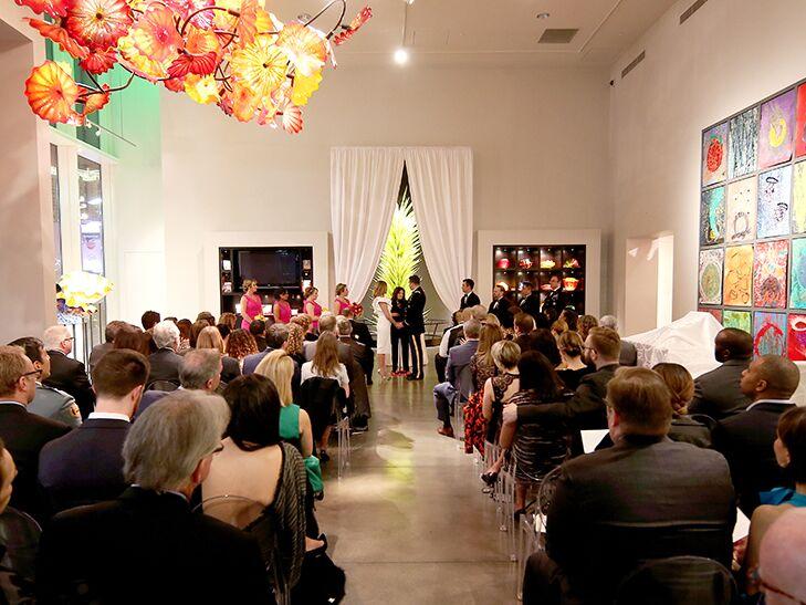 Brianna Keilar's wedding ceremony at theGallery in Las Vegas