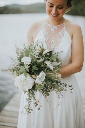 Sage Fern and Eucalyptus Bouquet