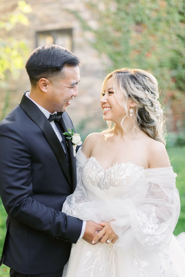 The Bride and Groom on Wedding Day at Kestrel Park in Santa Ynez, California