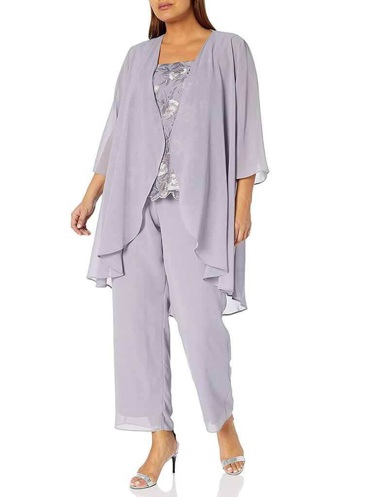 amazon lavender mother of the bride pant suit with lace