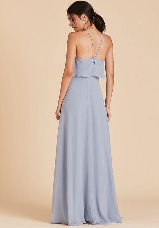 Birdy Grey Jules Dress in Dusty Blue Halter Bridesmaid Dress