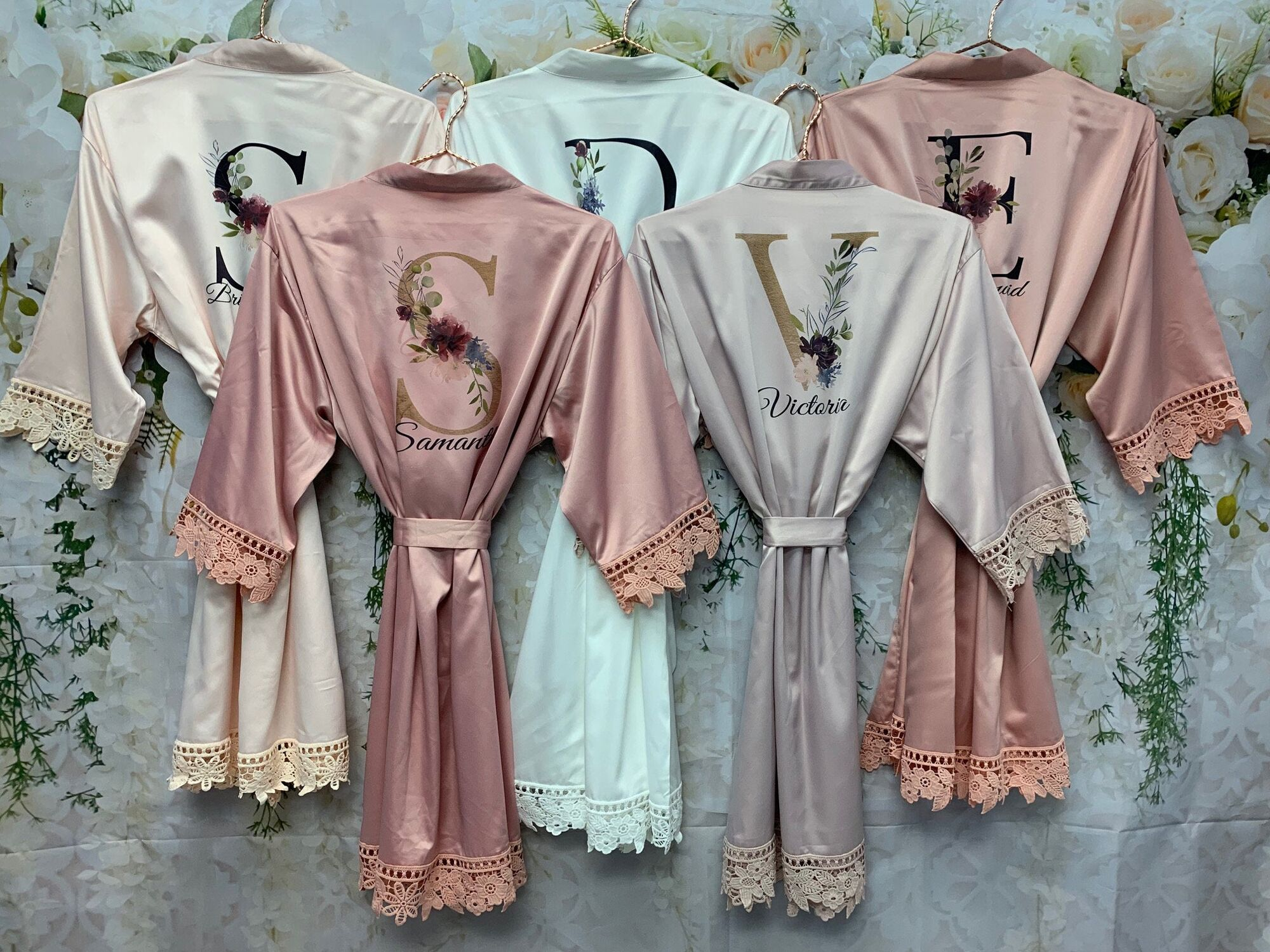 bridesmaid gift HIGH QUAILITY Customized Wedding Robe bridesmaid robe kimono