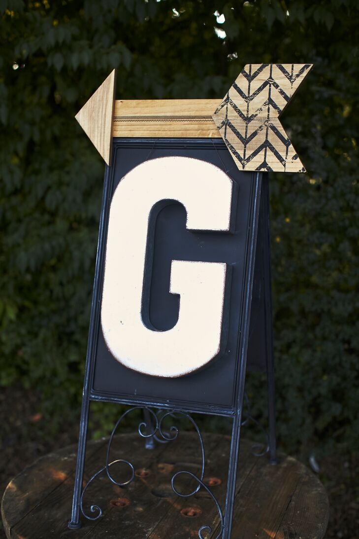 Custom wooden signage added a rustic and personal touch.