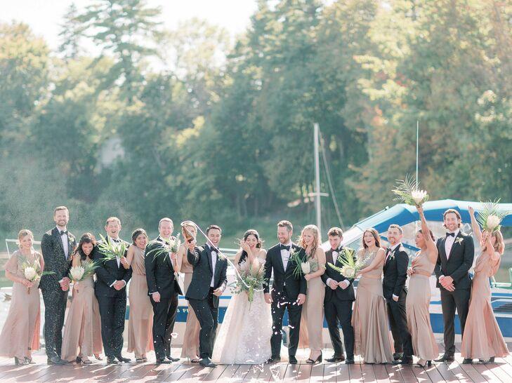 Wedding Party at Basin Harbor Club in Vergennes, Vermont