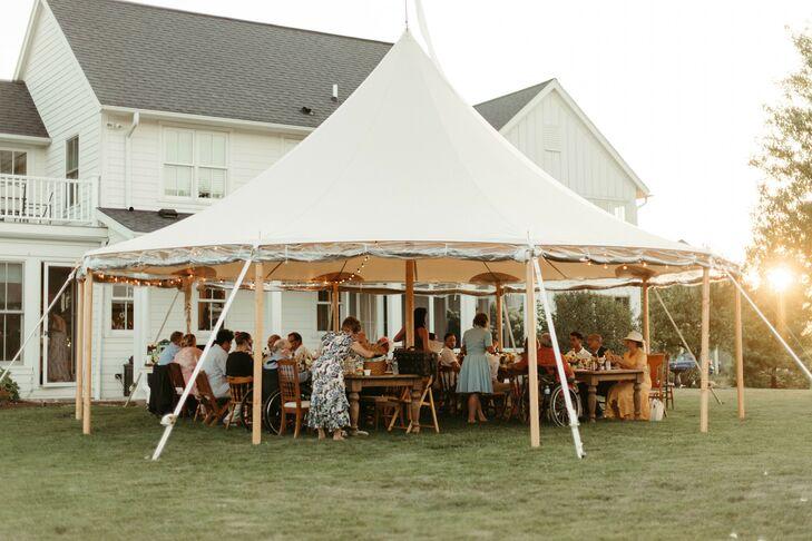 Wedding Reception Underneath Sailcloth Tent