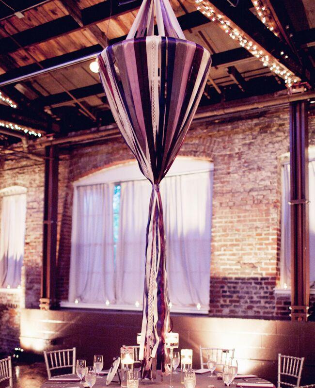 DIY ribbon wedding decor: Laura Leslie Photography / TheKnot.com