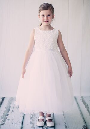 Kid's Dream 368 Ivory,White Flower Girl Dress