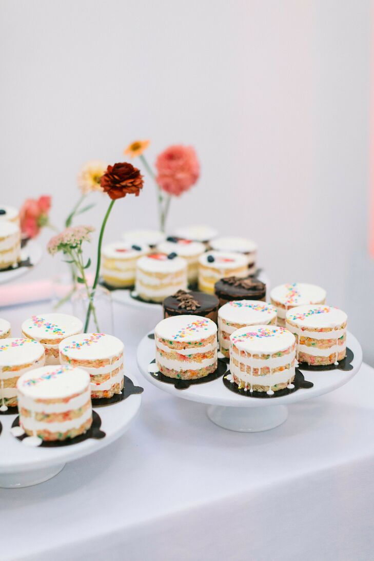 Mini Cakes for Wedding at Sound River Studios in Long Island City, New York