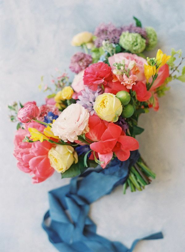 red-and-yellow wedding bouquet