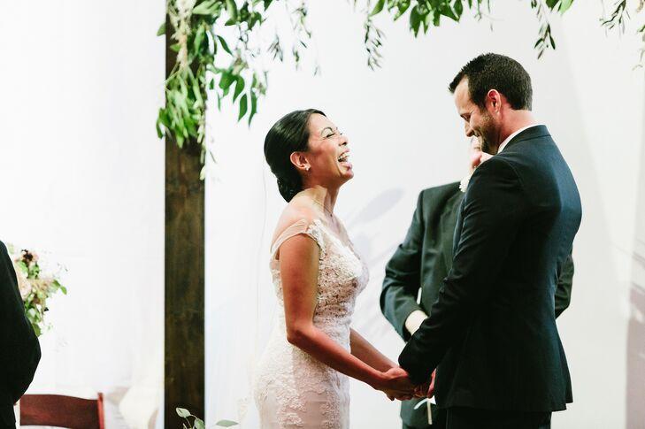 Elegant Lace Off-the-Shoulder Wedding Dress