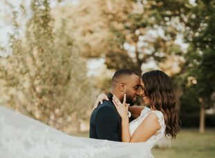 """Bianca Richards and Nathan Tulloch let their venue lead the way when wedding planning. """"Our top priority was finding a place that felt industrial and"""