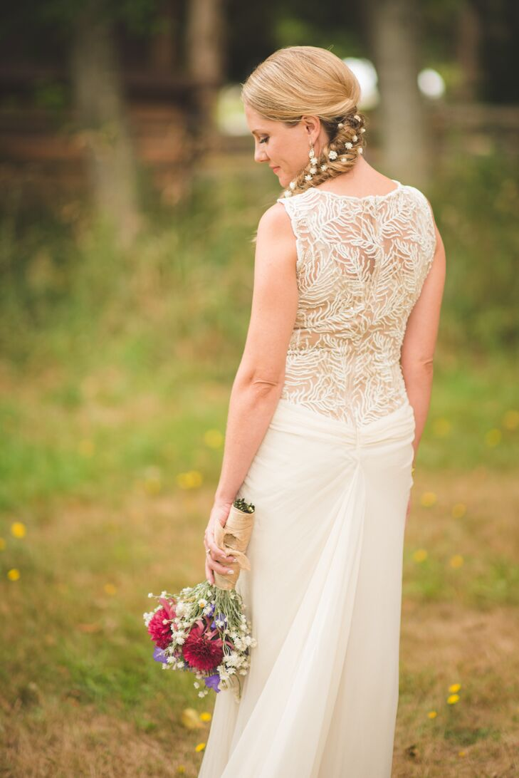Lace Wedding Dress With Illusion Back