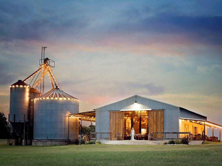 Farm wedding venue in Blum, Texas.
