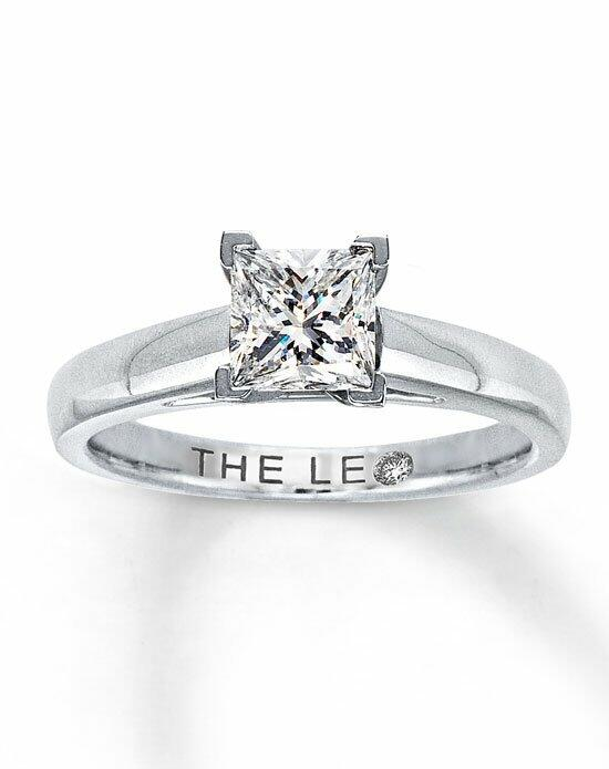 The Leo Diamond Leo Diamond Solitaire Ring 1 ct Princess-Cut 14K White Gold Engagement Ring photo