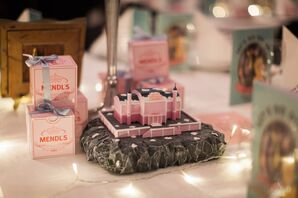 'The Grand Budapest Hotel' Centerpiece and Wedding Favors