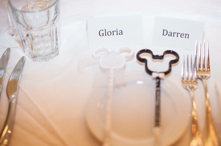 Mickey and Minnie Mouse Escort Cards
