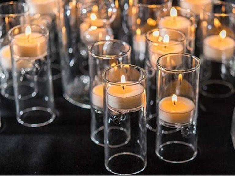 Moonlight Weddings glass tea light holders