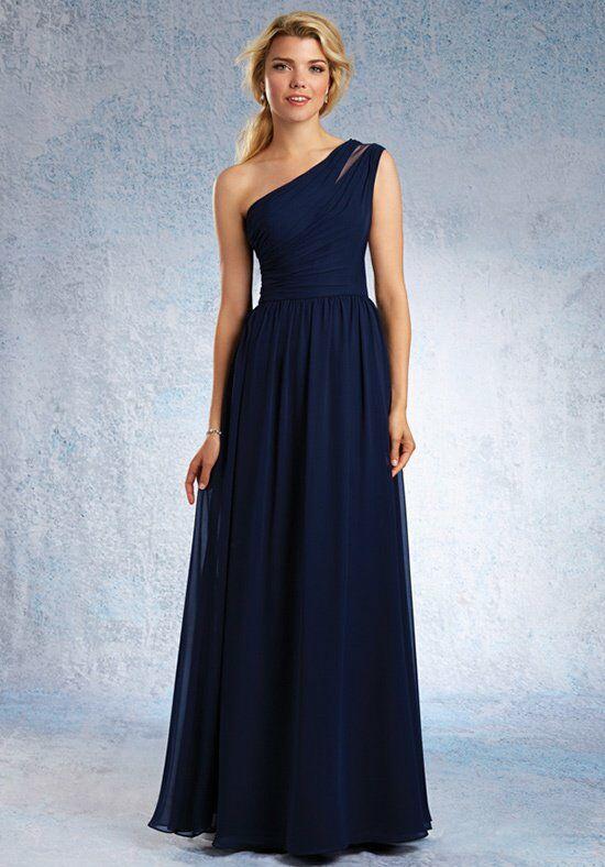One Shoulder Long Bridesmaid Dress