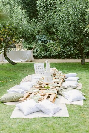 Picnic-Inspired Lounge Area With Throw Pillows