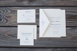 Nautical Wedding Invitations With Anchor Motif