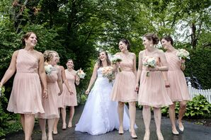 Peach Bridesmaid Style