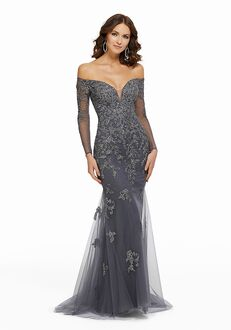 MGNY 72015 Blue,Gray Mother Of The Bride Dress