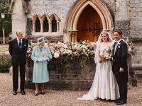Prince Philip, Queen Elizabeth, Edoardo Mapelli Mozzi and Princess Beatrice at intimate wedding.