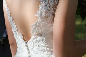 White Lace, Low-Back Wedding Dress