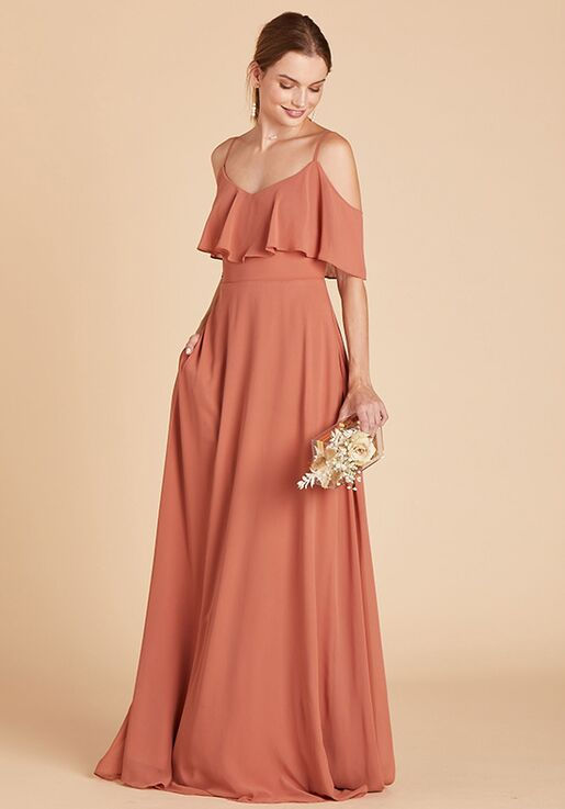 Birdy Grey Jane Convertible Dress in Terracotta V-Neck Bridesmaid Dress