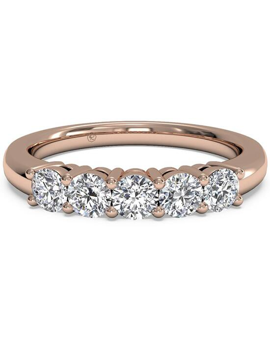 diamond wedding band in 18kt rose gold ctw wedding ring photo
