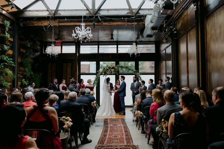 Wedding Ceremony at Brooklyn Winery in New York