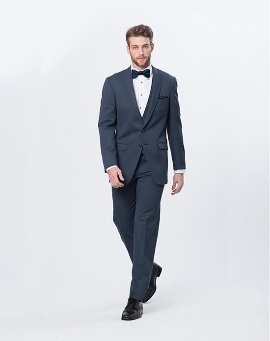 XEDO Allure Men Slate Blue Suit Wedding Tuxedos + Suit photo