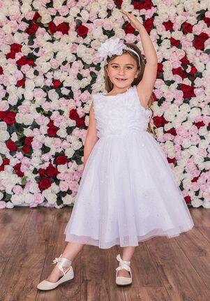 Kid's Dream 486 Pink,Ivory,White Flower Girl Dress