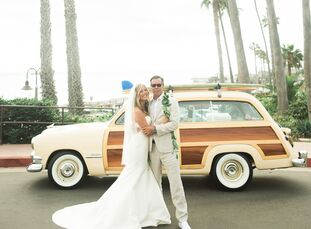Borrowing tropical elements from the bride's home state of Hawaii, Summer Strauch (an executive television producer and photographer) and Kiernan McGu