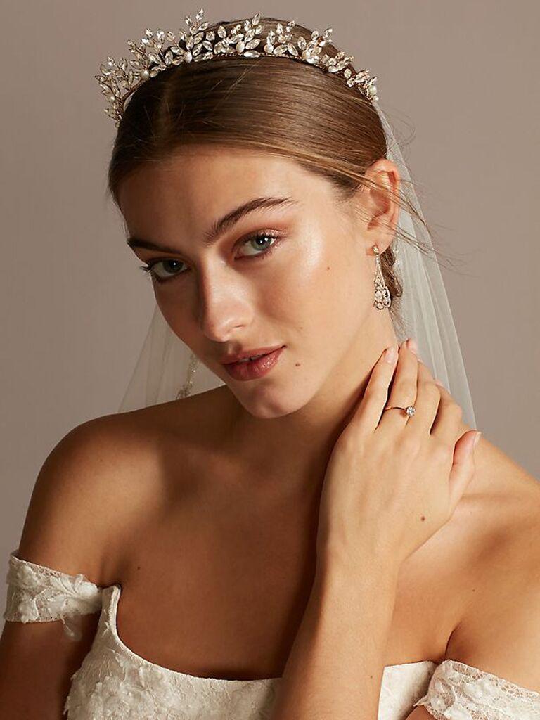 Gold wedding tiara