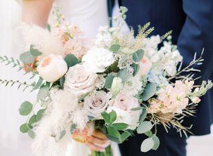 Chelsea and Mike's bohemian microwedding at The Barn at Willow Brook in Leesburg, Virginia, was a prime reminder that minimonies, elopements and micro