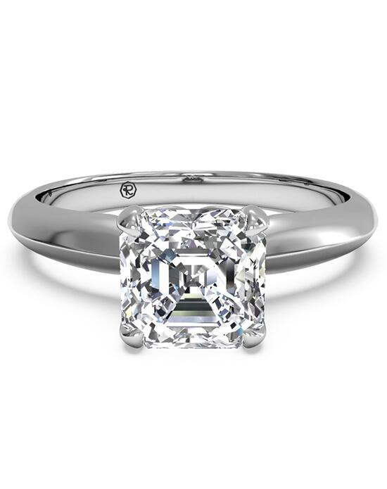 Ritani Solitaire Diamond Knife-Edge Engagement Ring - in 14kt White Gold for a Asscher Center Stone Engagement Ring photo