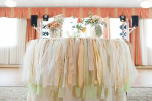 Peach and Mint Sweetheart Table