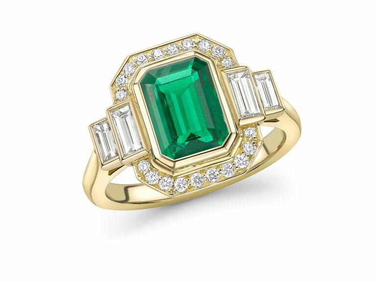 Emma Clarkson Webb emerald engagement ring