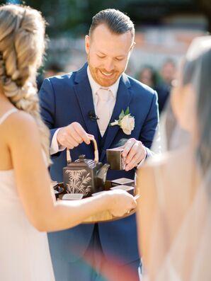 Vietnamese Tea Ceremony During Wedding at Rancho Las Lomas in Silverado, California