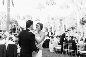 First Dance at Outdoor Reception