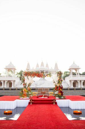 Traditional Hindu Ceremony Site at BAPS Shri Swaminarayan Mandir in Georgia