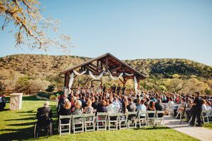 Rustic Wooden Gazebo Outdoor Hill Country Ceremony