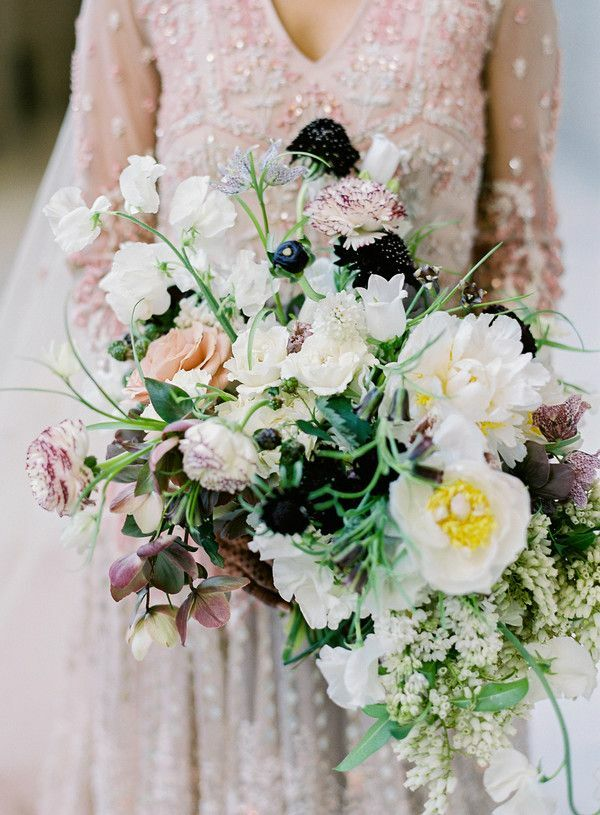 White, yellow and purple bouquet