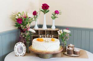 Single Layer Buttercream Wedding Cake