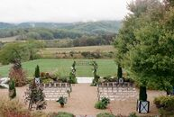 """Ali and Jake """"got married in Charlottesville at Pippin Hill Farm and Vineyards, a winery with sweeping views of Blue Ridge Mountains and the Virginia"""