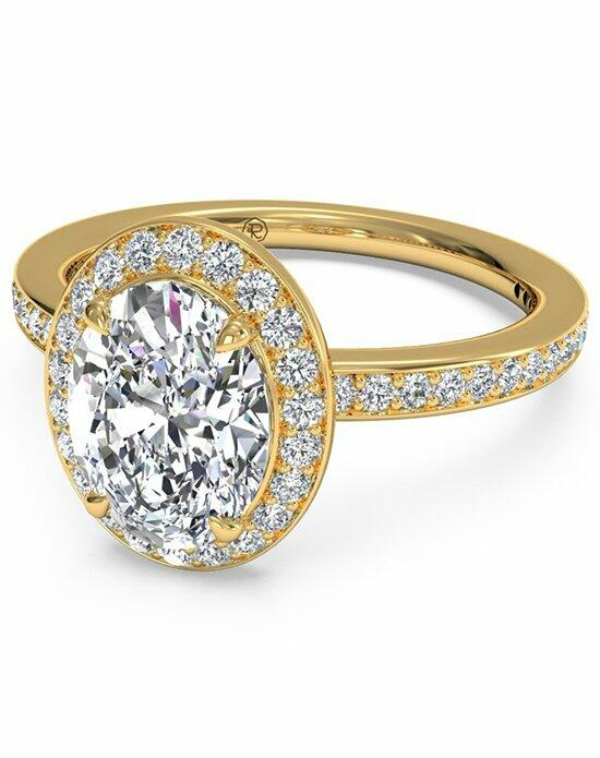 Ritani Oval Cut Halo Micropave Diamond Band Engagement Ring in 18kt Yellow Gold (0.28 CTW) Engagement Ring photo