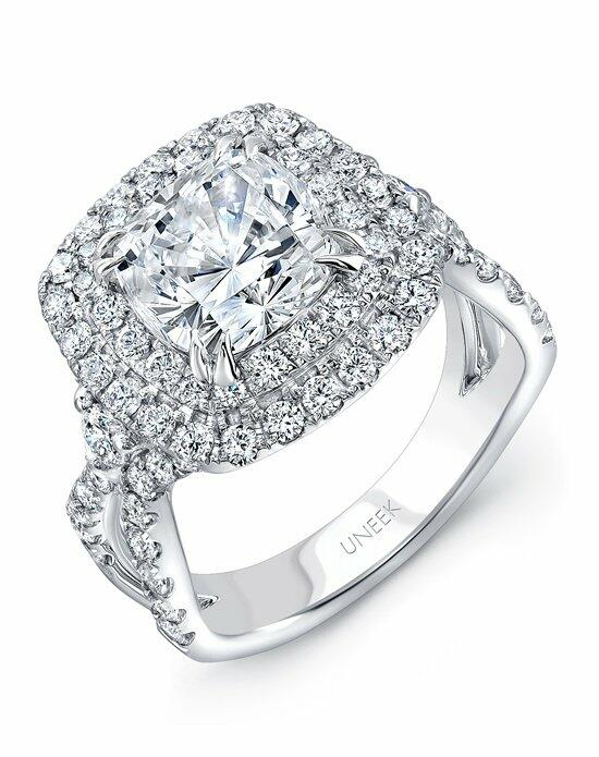 Uneek Fine Jewelry SM829W-8X8CU Engagement Ring photo